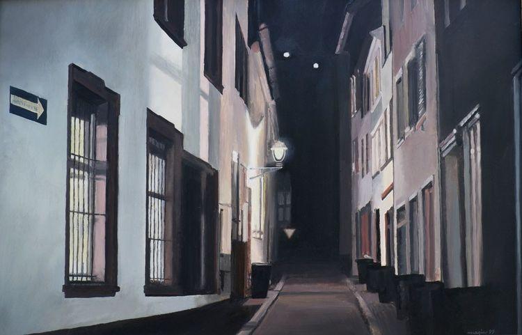 Nacht, Menschenleer, Straßenszene, Einsamkeit, Architektur, Altstadt