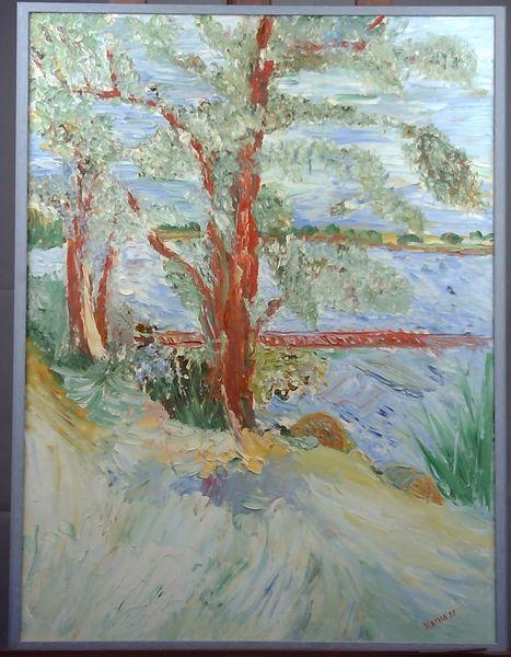 Herbst wetter, Dänemark, Natur, Spachteltechnik, Ölmalerei, Baum