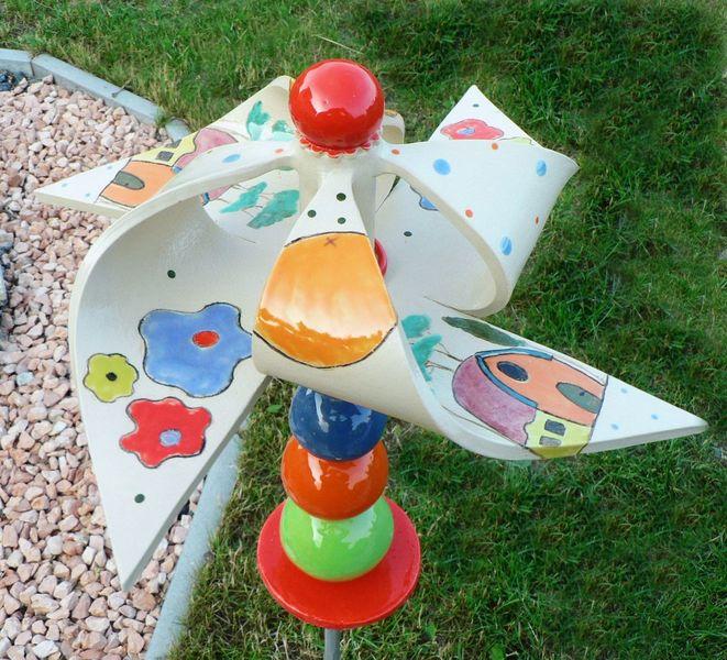 Keramik, Windrad, Gaten, Windspiel, Dekoration, Töpferei