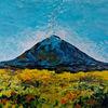 Landschaft, Ethna, Berge, Malerei