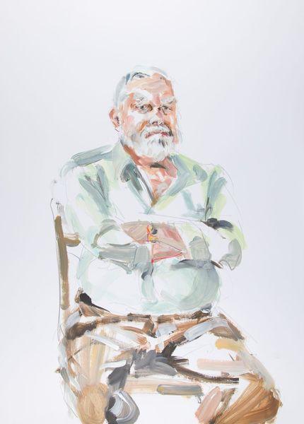 Alter mann, Nordstadt, Portrait, Acrylmalerei, Malerei