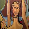 Portrait, Spaziergang, Arm, Schaufensterpuppe