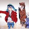 Japanisch, Copic, Anime, Manga mädchen