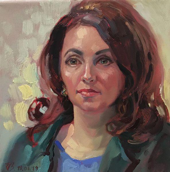 Gesicht, Portrait, Ölmalerei, Frau, Malerei