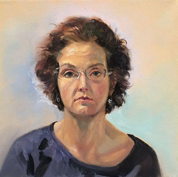 Frau, Ölmalerei, Portrait, Gesicht, Malerei