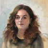 Portrait, Ölmalerei, Malerei, Frau