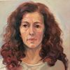 Gesicht, Frau, Malerei, Portrait