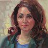 Ölmalerei, Frau, Malerei, Gesicht