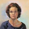 Gesicht, Malerei, Frau, Ölmalerei