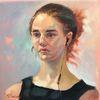 Gesicht, Dame, Ölmalerei, Portrait mädchen