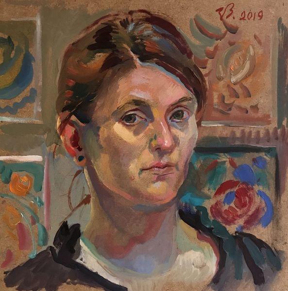 Selbstportrait, Portrait, Frau, Salfy, Malerei