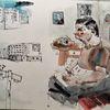 Menschen, Gesellschaft, Alltag, Zeichnungen