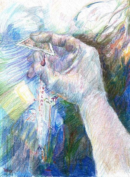 Buntstifte, Hand, Geschichte, Arm, Briefmarken, Abstrakt