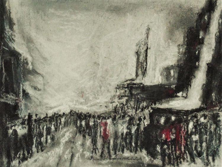 Gegenwartskunst, Politisch, Menschen orginalgrafik, Malerei