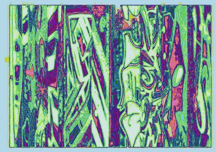 Bunt, Fassade, Bschoeni, Abstrakt, Tag, Maserung