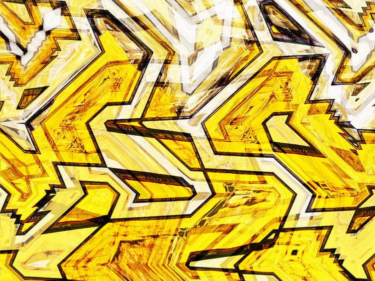 Graffiti, Bschoeni, Abstrakt, Gelb, Digitale kunst
