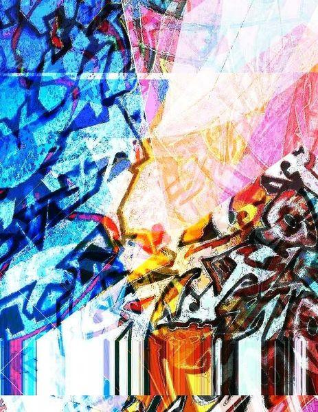 Abstrakt, Graffiti, Bschoeni, Bunt, Digitale kunst,