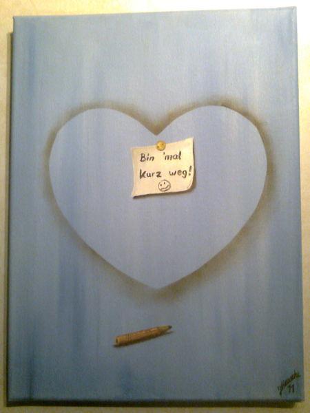 Abschied, Kaputt, Herz, Malerei