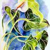 Blumen, Aquarellmalerei, Nebenbeigekritzel, Aquarell
