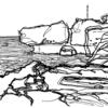 Skizze, Nebenbeigekritzel, Landschaft, Illustrationen