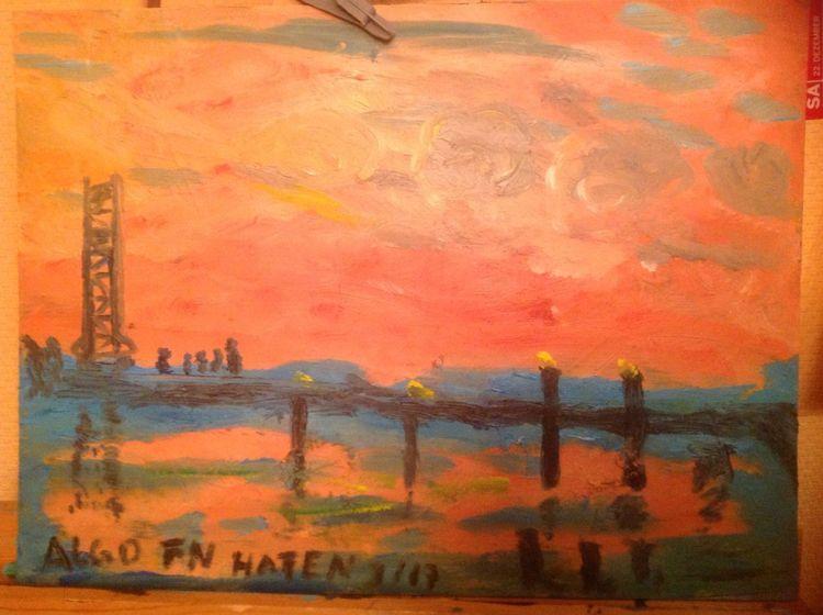Leinen, Wüste, Reflexion, Mystik, Grob, Ölmalerei