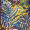 Feuer, Ölmalerei, Reflexion, Blau