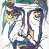 Figural, Portrait, Expressionismus, Aquarell