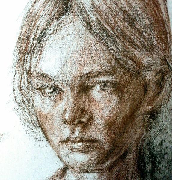 Portrait, Skizze, Skizzenbuch, Zeichnungen, Studie