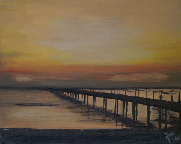 See, Malen, Sonne, Warm, Küste, Acrylmalerei