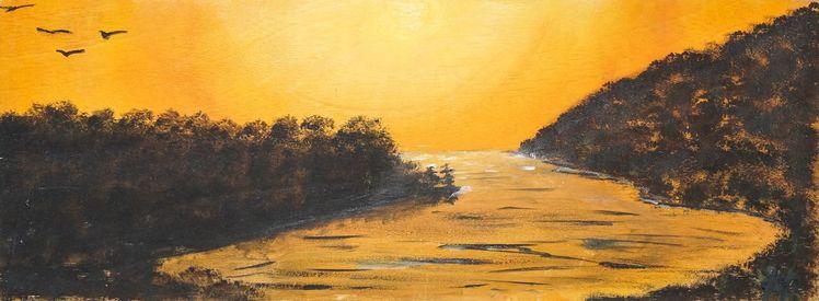 Sonne, Wasser, Fluss, Sonnenuntergang, Orange, Licht