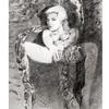 Frau, Portrait, Schlange, Vintage
