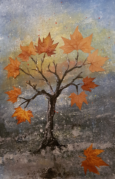 Mischtechnik, Surreal, Natur, Malerei