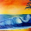 Palmen, Urlaub, Strand, Horizont