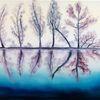 Spiegelung, Landschaft, Verträumt, Baum