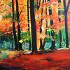 Licht, Wald, Herbst, Malerei