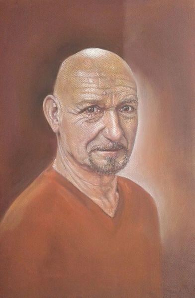 Portrait, Kingsley, Pastellmalerei, Zeichnungen