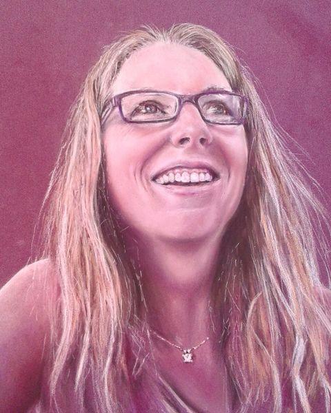 Pastellmalerei, Zeichnung, Selbstportrait, Zeichnungen