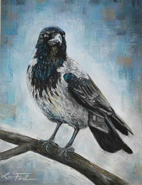 Vogel, Pastellmalerei, Aaskrähe, Zeichnungen