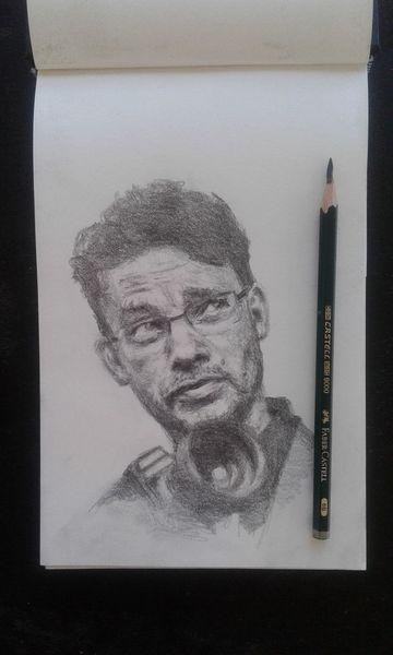 Bleistiftzeichnung, Vincentbal, Portrait, Zeichnungen