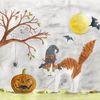 Katze, Herbst, Möhrchenthecat, Halloween