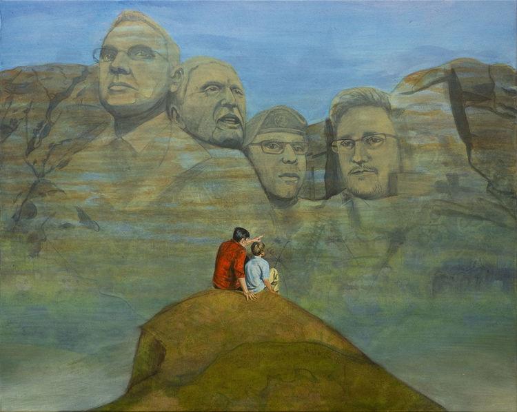 Landschaftsmalerei, Julian assange, Abgrund, Whistleblower, National monument, Vater sohn