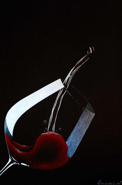 Luxus, Wein, Acrylmalerei, Sekt, Rotwein, Champagner