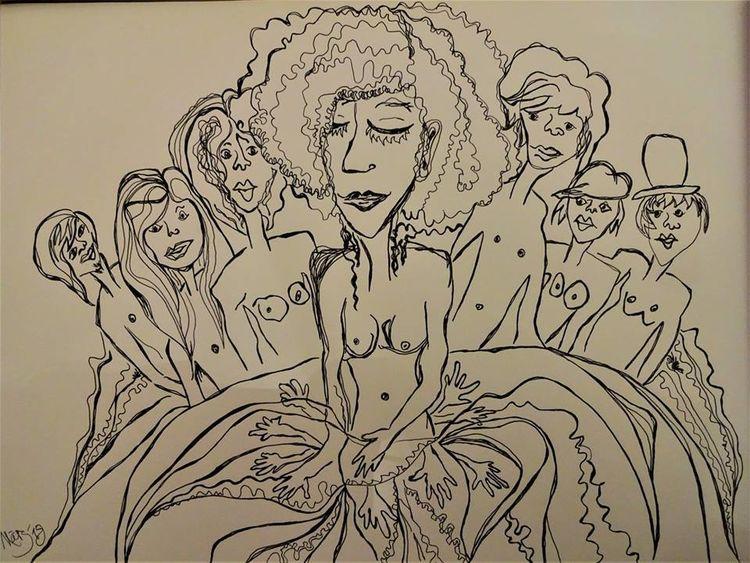 Menschen, Liebe, Psyche, Zeichnungen,