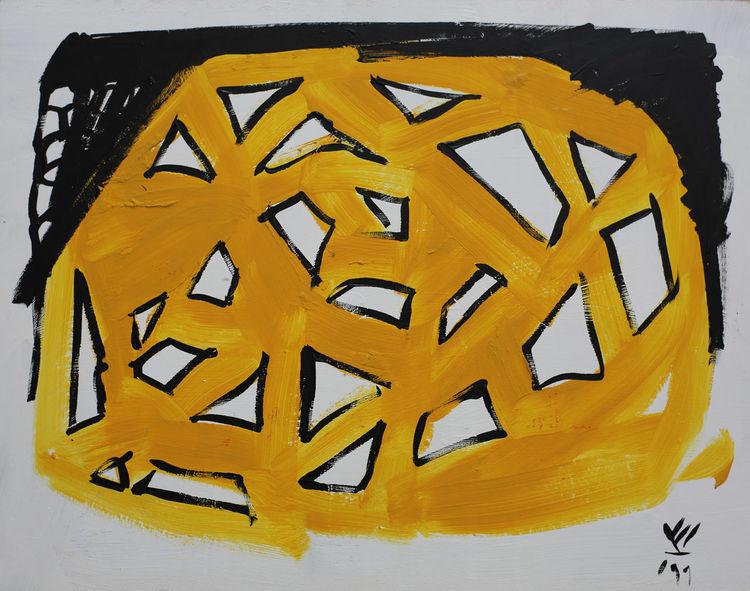 Gelb, Vincent van volkmer, Van volkmer, Gemälde, 2313, Abstrakt