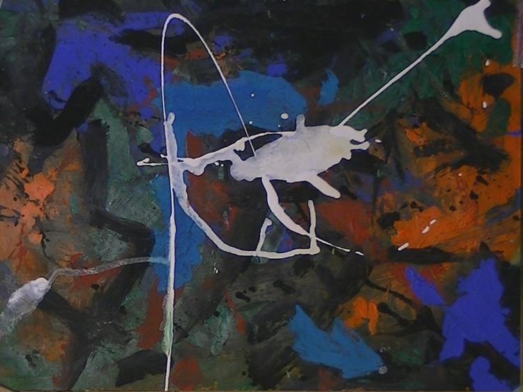 Klecks, Pferde, Abstrakte malerei, Abstrakter expressionismus, Malerei