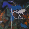 Abstrakte malerei, Abstrakter expressionismus, Pferde, Klecks
