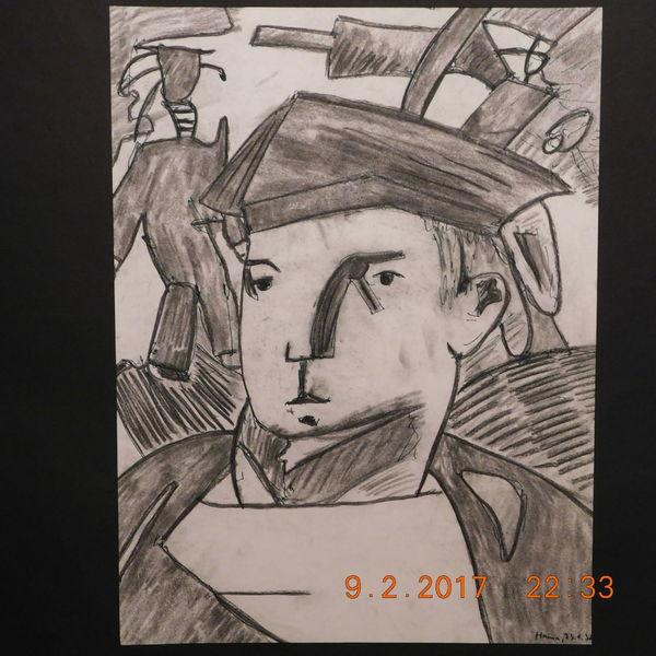Portrait, Straßenszene, Matrosenmotiv, Zeichnungen