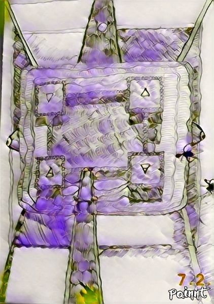 Mischtechnik, Zeichnung, Tarotmotiv, Digitale kunst