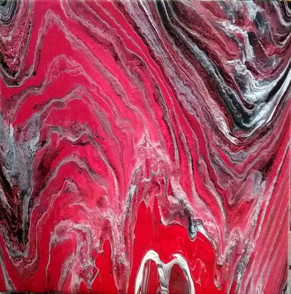 Schwarz, Weiß, Rot, Malerei, Abstrakt