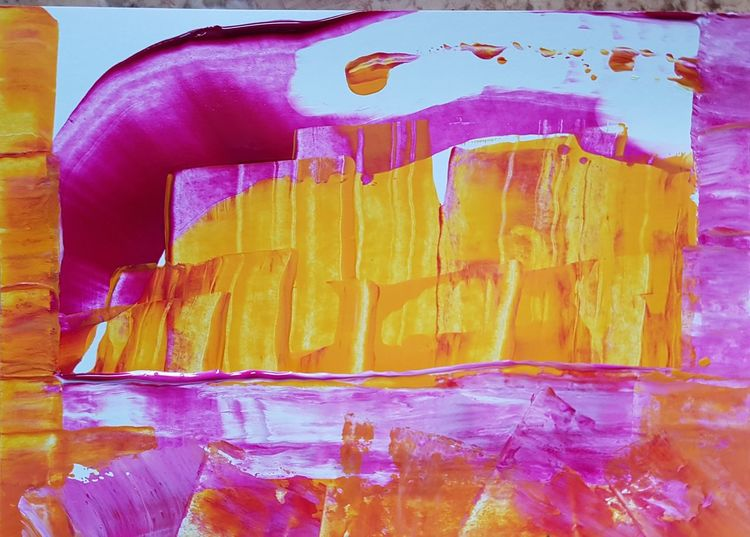 Abstrakt, Acrylmalerei, Malerei, Komet,